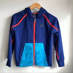 Jordan Color block zip up hoodie size M 10-12